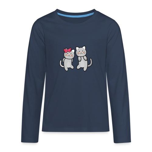 Kotki - Koszulka Premium z długim rękawem dla nastolatków