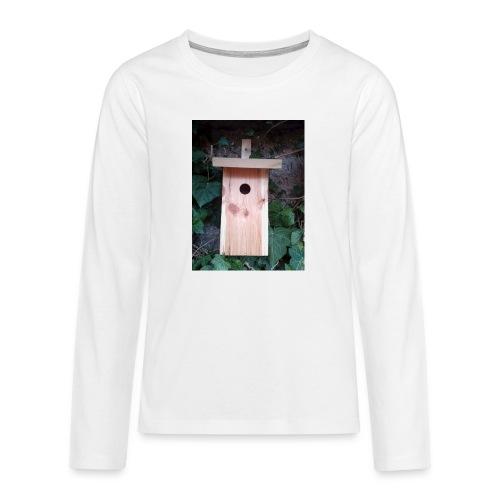 Der Nistkasten - Luxus für den Garten-Vogel - Teenager Premium Langarmshirt