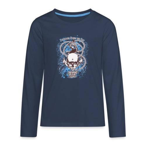 Skull Anker Design Art - Teenager Premium Langarmshirt