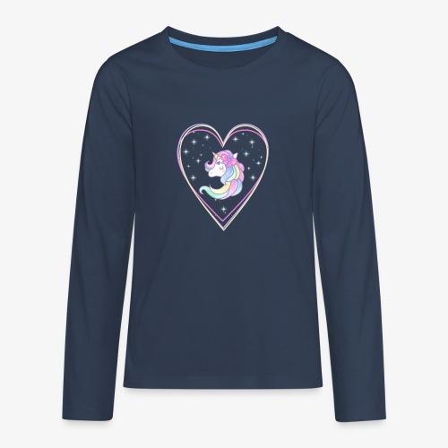Unicorn - Maglietta Premium a manica lunga per teenager