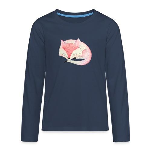 roze vos - Teenager Premium shirt met lange mouwen