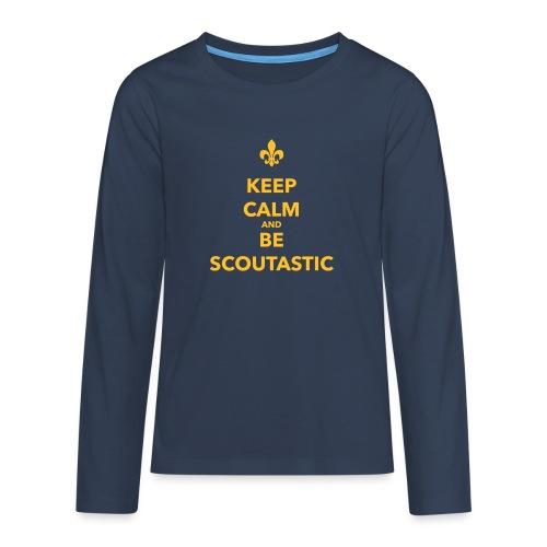 Keep calm and be scoutastic - Farbe frei wählbar - Teenager Premium Langarmshirt