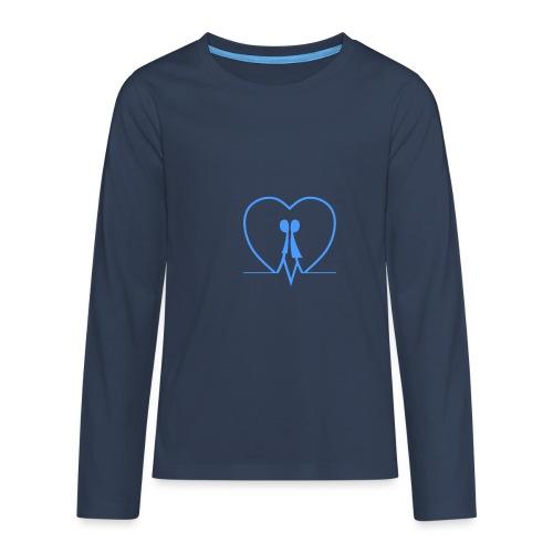 Amarsi un pò ... LIGHT BLUE - Maglietta Premium a manica lunga per teenager