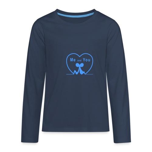 Io e te... LIGHT BLUE - Maglietta Premium a manica lunga per teenager
