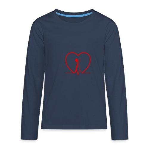 Non aver paura dell'uguaglianza... Man man RED - Maglietta Premium a manica lunga per teenager