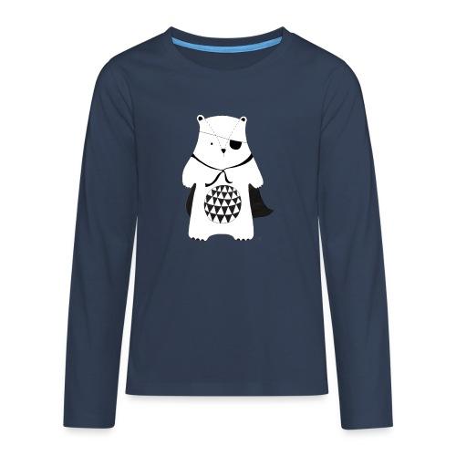 stoere beer - Teenager Premium shirt met lange mouwen