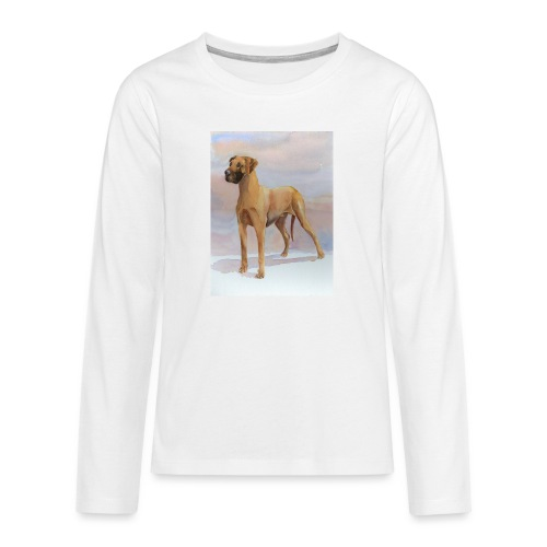 Great Dane Yellow - Teenager premium T-shirt med lange ærmer