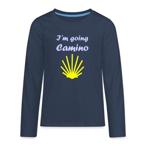Going Camino - Teenager premium T-shirt med lange ærmer