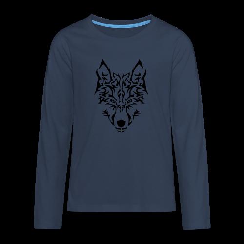 Tribal Wolf - T-shirt manches longues Premium Ado
