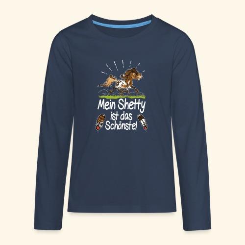 Mein Shetty das Schönste (Text weiss) - T-shirt manches longues Premium Ado