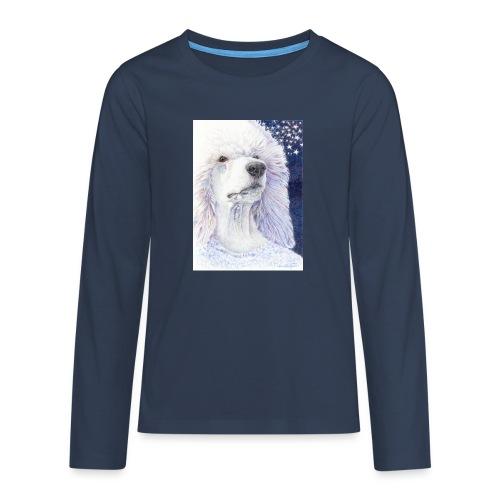 Poodle DreamDog - Teenager premium T-shirt med lange ærmer