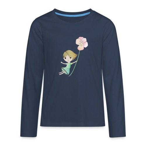 meisje met viool - Teenager Premium shirt met lange mouwen
