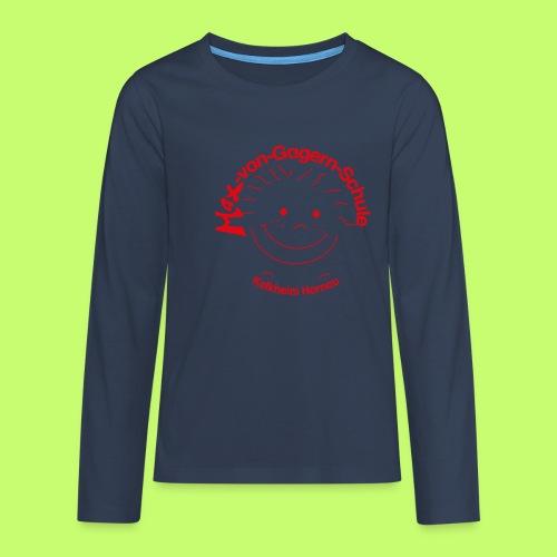 Mäxchen Logo rot - Teenager Premium Langarmshirt
