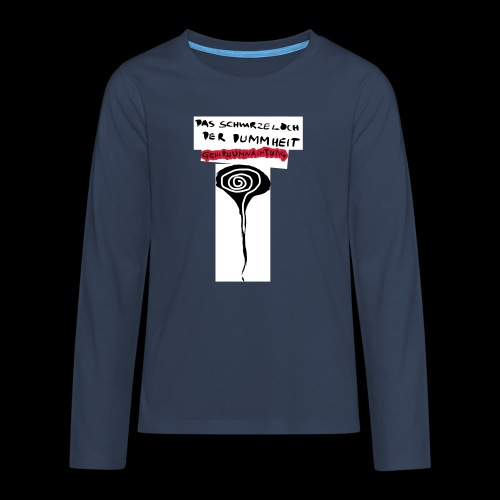 schwarzes lochohne signatur - Teenager Premium Langarmshirt