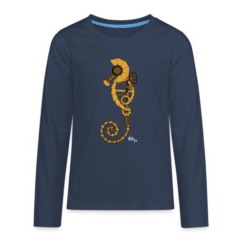 Caballito de mar Steampunk - Camiseta de manga larga premium adolescente