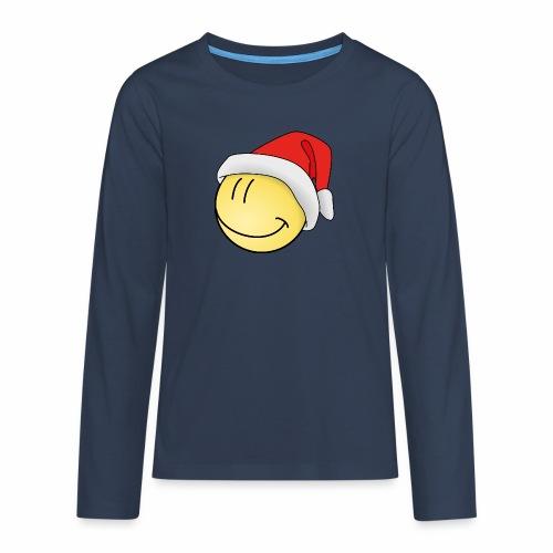 santa-smilie - Teenager Premium Langarmshirt