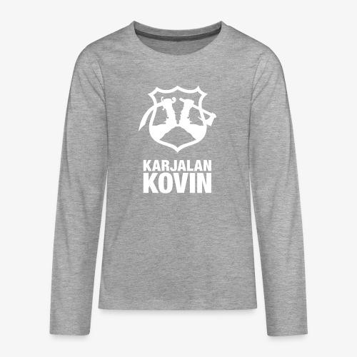 karjalan kovin pysty - Teinien premium pitkähihainen t-paita