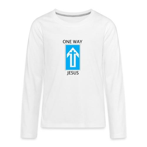 One Way, Jesus - Teenagers' Premium Longsleeve Shirt
