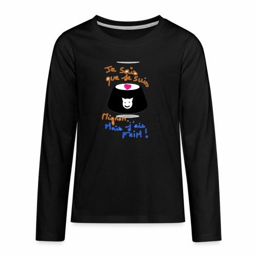 Je sais que je suis mignon, mais j'ai faim ! - T-shirt manches longues Premium Ado