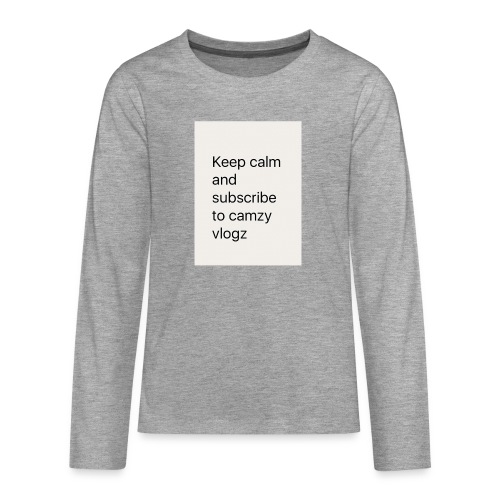 Keep calm - Teenagers' Premium Longsleeve Shirt