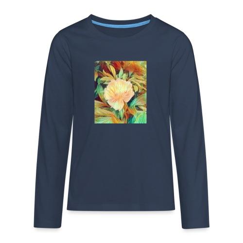 Flower - Teenager Premium Langarmshirt