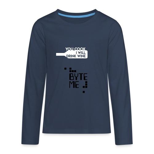 ByteMe - Teenager premium T-shirt med lange ærmer