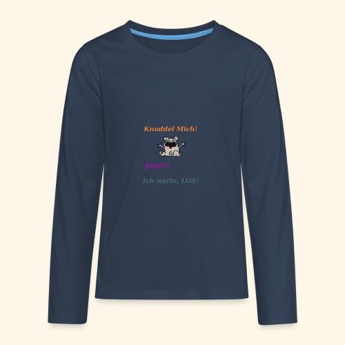 Hunde Knuddeln - Teenagers' Premium Longsleeve Shirt
