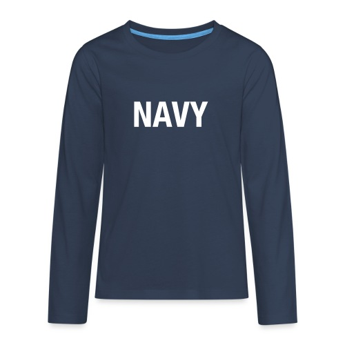 NAVY - Teenagers' Premium Longsleeve Shirt