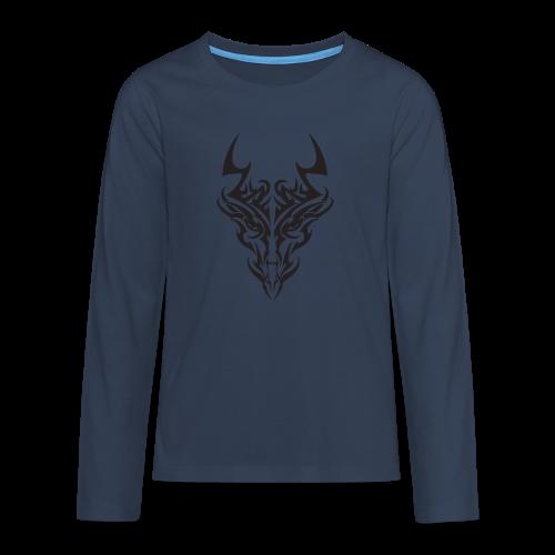 tribal dragon - T-shirt manches longues Premium Ado