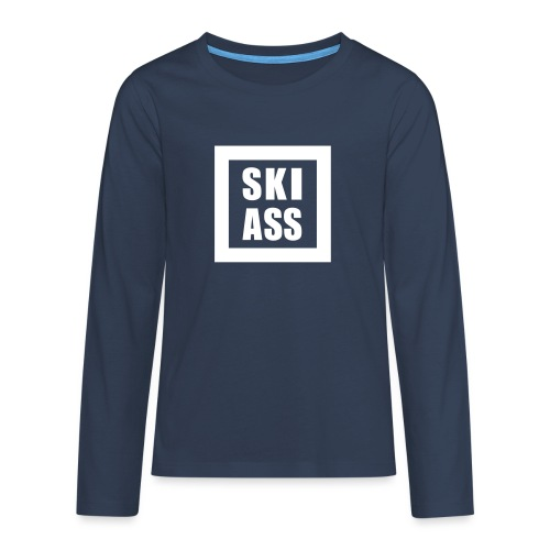 Ski Ass - Teenager Premium Langarmshirt