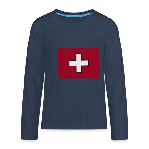 Swiss Flagge - Teenager Premium Langarmshirt