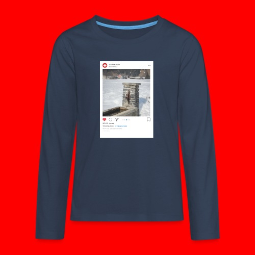 travelsuisse - Brunnen Trin - Teenager Premium Langarmshirt