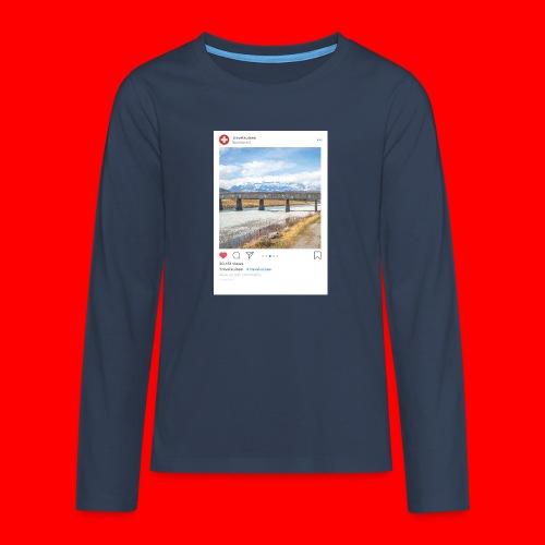 travelsuisse - Bruecke Vaduz - Teenager Premium Langarmshirt