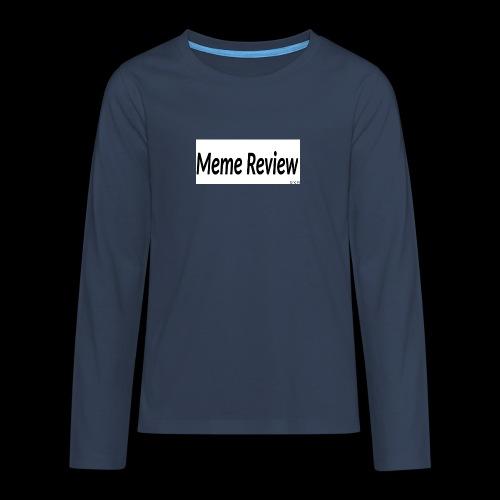 Meme Review - Långärmad premium T-shirt tonåring