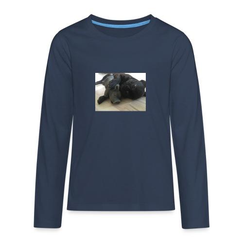 kuschelnder Hund - Teenager Premium Langarmshirt