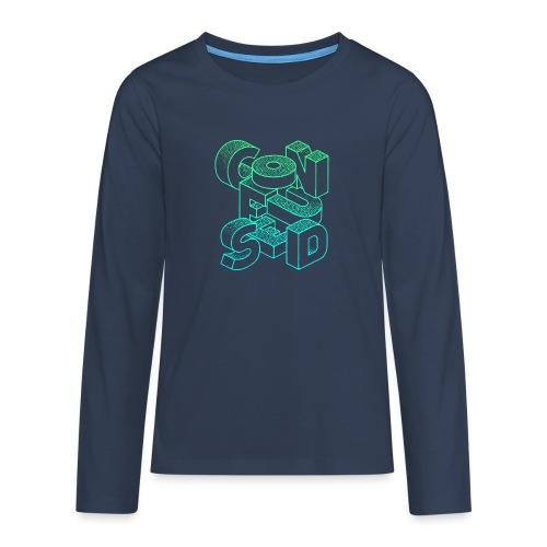 Confused - Långärmad premium T-shirt tonåring