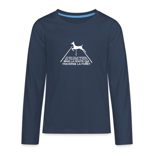Chevreuil blanc - T-shirt manches longues Premium Ado