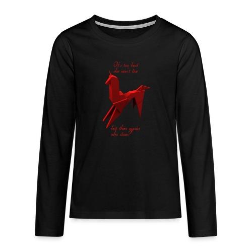 UnicornioBR2 - Camiseta de manga larga premium adolescente