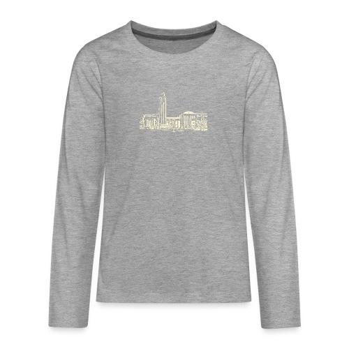 Helsinki railway station pattern trasparent beige - Teenagers' Premium Longsleeve Shirt