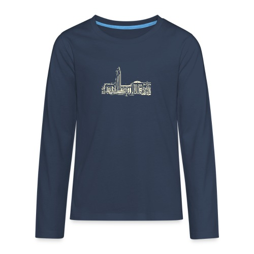 Helsinki railway station pattern trasparent beige - Teenagers' Premium Longsleeve Shirt