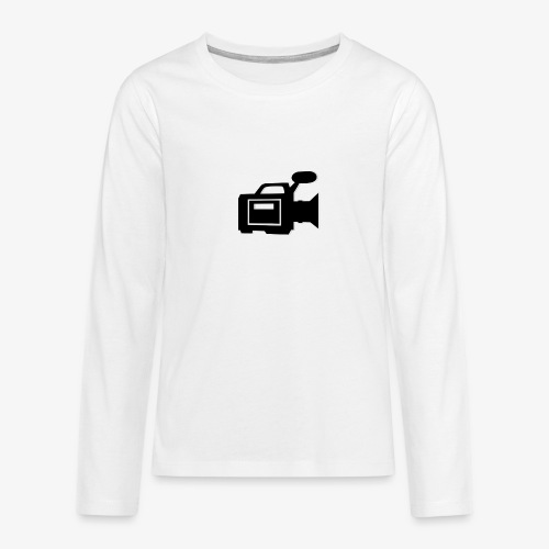 camera - Teenager premium T-shirt med lange ærmer