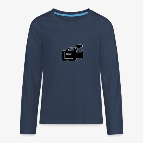 camera - Teenager premium T-shirt med lange ærmer