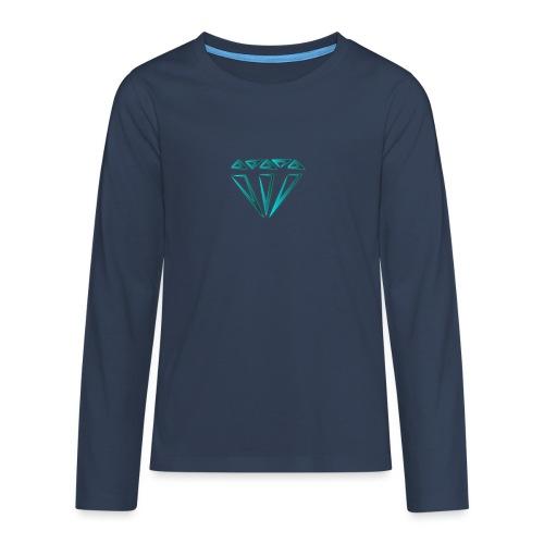 diamante - Maglietta Premium a manica lunga per teenager