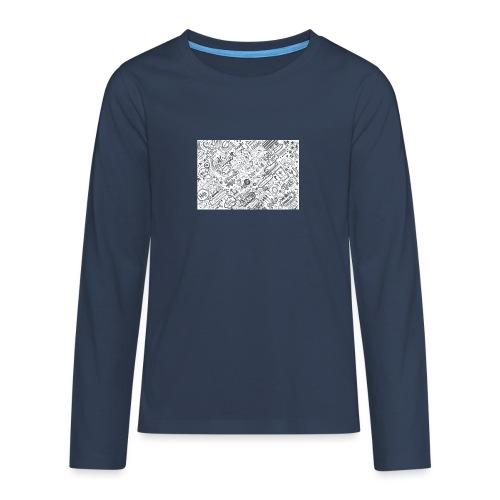 Doodle - Koszulka Premium z długim rękawem dla nastolatków