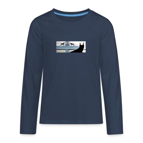FBtausta - Teinien premium pitkähihainen t-paita