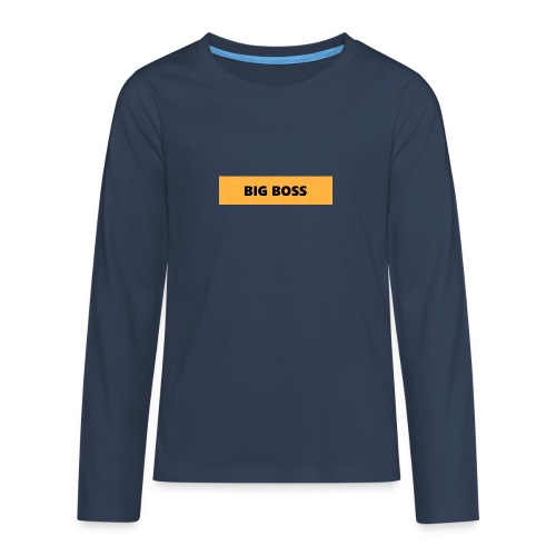 BIG BOSS - Teinien premium pitkähihainen t-paita