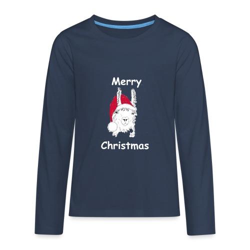 Weihnachtslama - Teenager Premium Langarmshirt