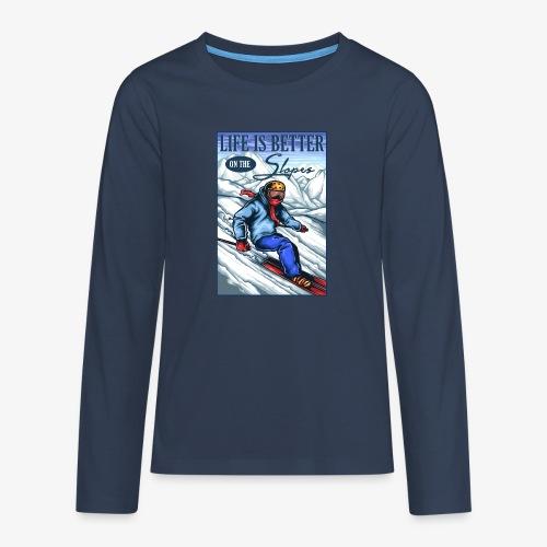 Ski Life - T-shirt manches longues Premium Ado