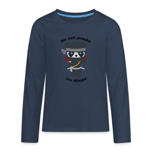 Non sono un Panda - Maglietta Premium a manica lunga per teenager