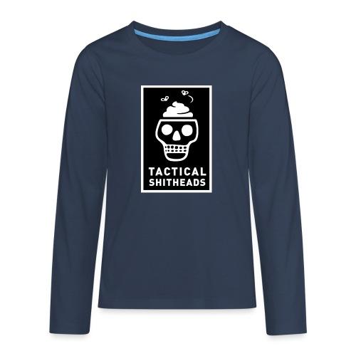 Tacshit Shitheadskull - Teenager Premium Langarmshirt